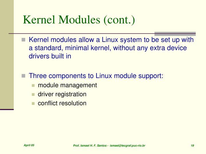 Kernel Modules (cont.)