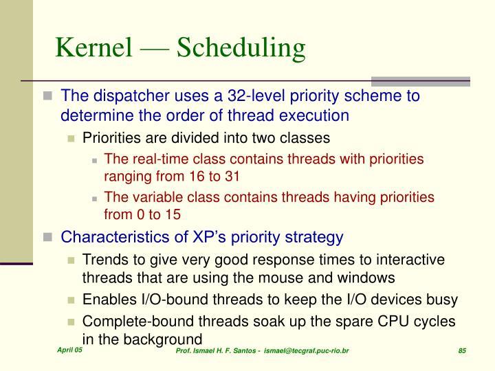 Kernel — Scheduling