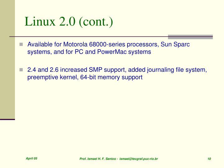 Linux 2.0 (cont.)