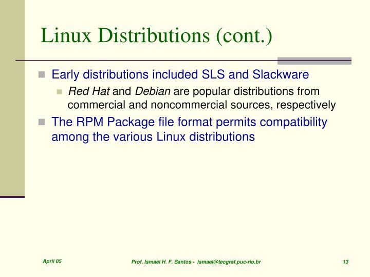 Linux Distributions (cont.)