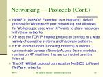 networking protocols cont