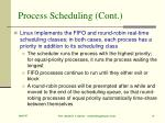 process scheduling cont