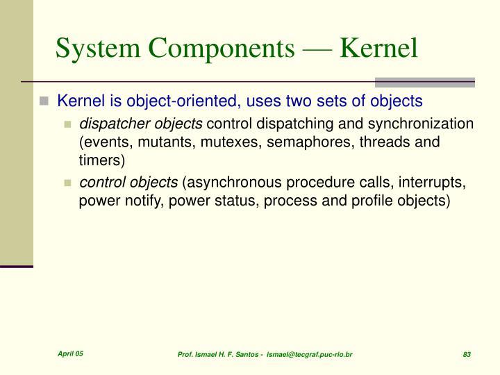 System Components — Kernel
