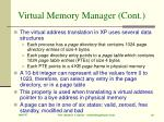 virtual memory manager cont