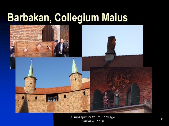 Barbakan, Collegium Maius