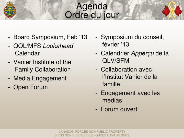 -  Symposium du conseil, février '13