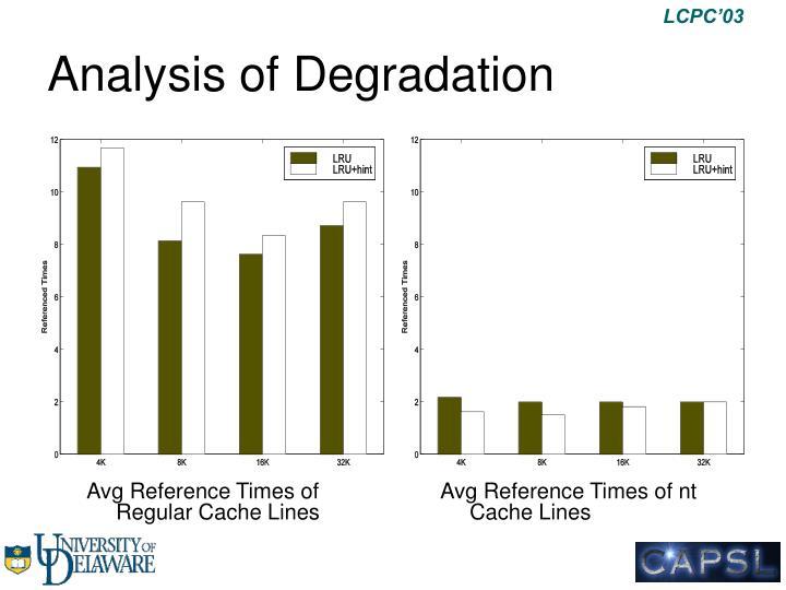 Analysis of Degradation