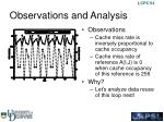 observations and analysis