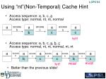 using nt non temporal cache hint