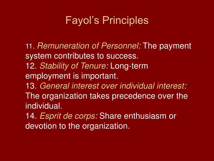 Fayol's Principles