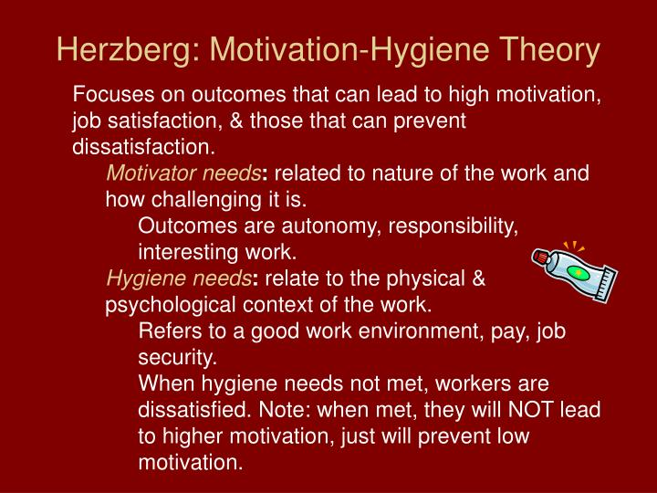 Herzberg: Motivation-Hygiene Theory