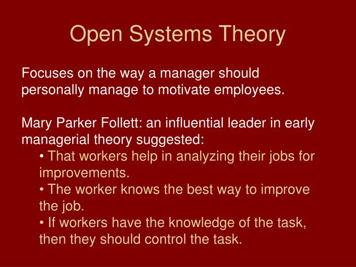 Open Systems Theory