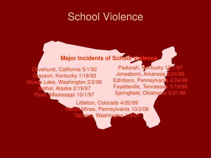 Major Incidents of School Violence