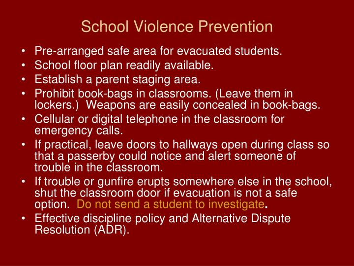 School Violence Prevention