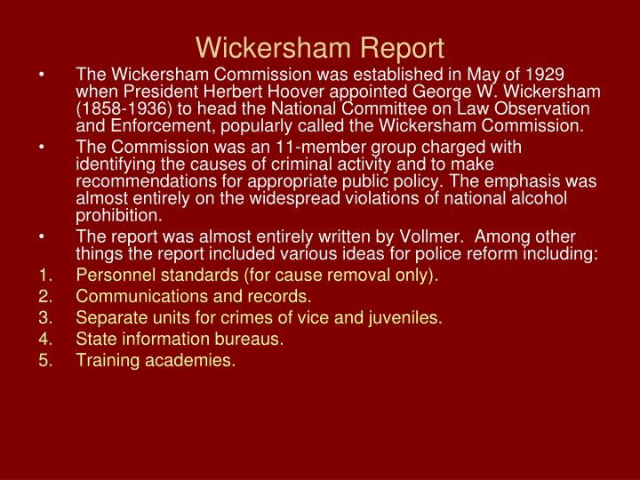 Wickersham Report