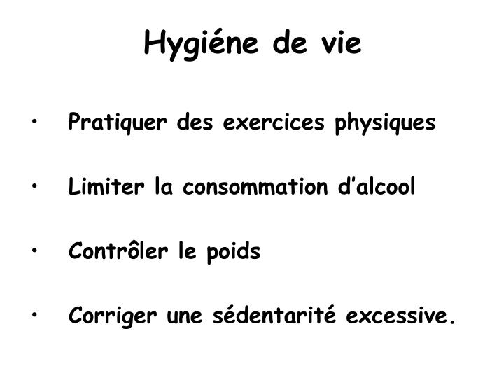 Hygiéne de vie