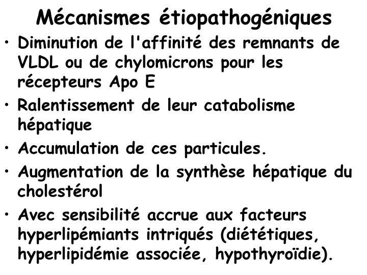 Mécanismes étiopathogéniques