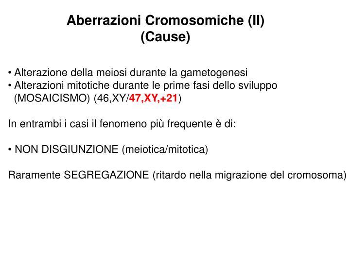 Aberrazioni Cromosomiche (II)