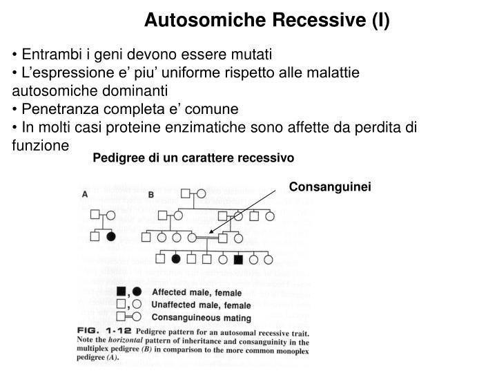 Autosomiche Recessive (I)