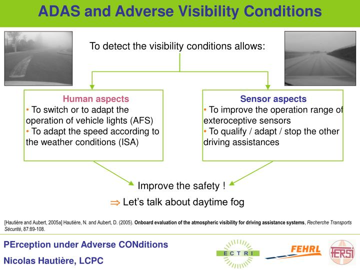 Adas and adverse visibility conditions