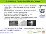 discussion current and future works