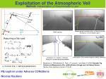 exploitation of the atmospheric veil