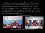 congratulations mrs bettencourt