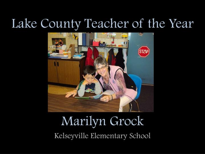Lake County Teacher of the Year