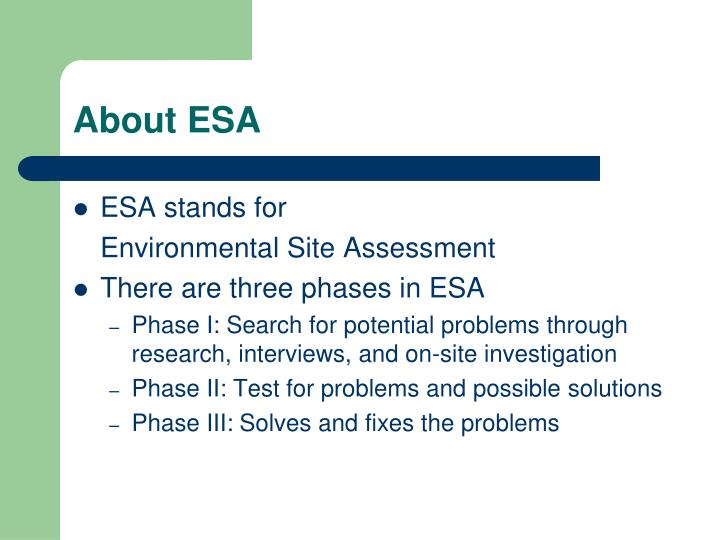 About ESA