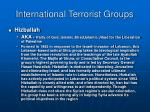 international terrorist groups1