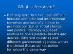 what is terrorism