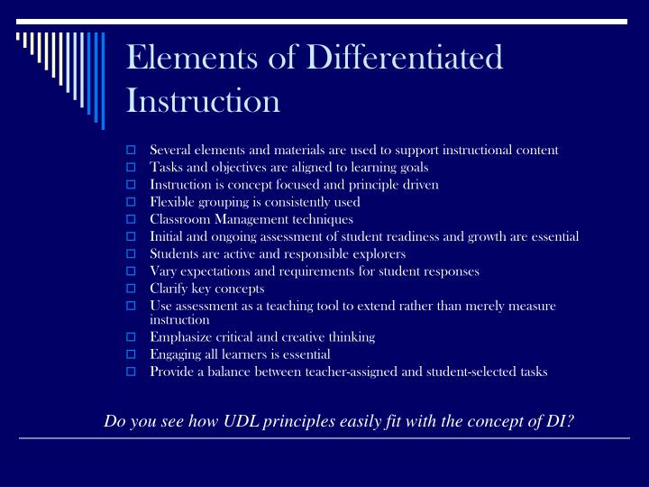 Elements of Differentiated Instruction