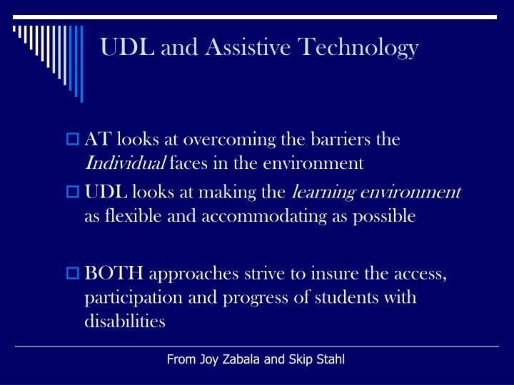 UDL and Assistive Technology