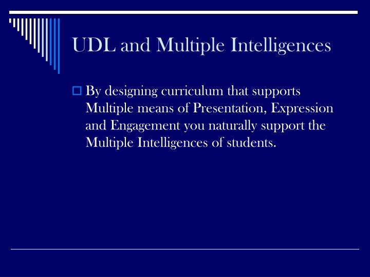 UDL and Multiple Intelligences