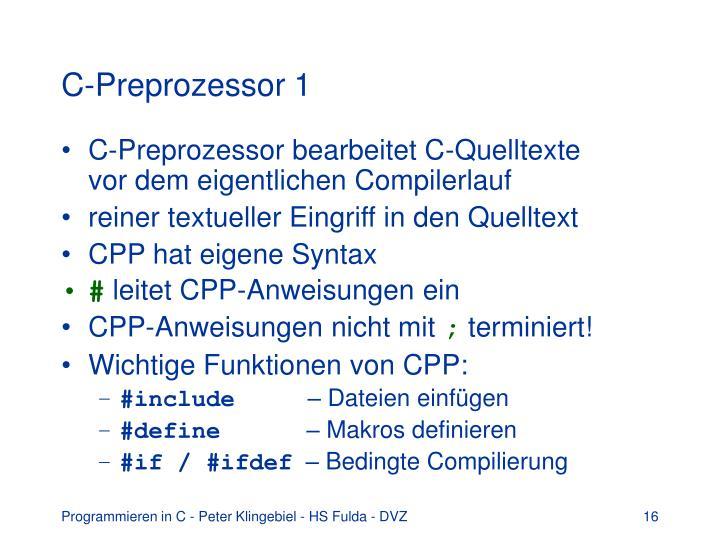 C-Preprozessor 1