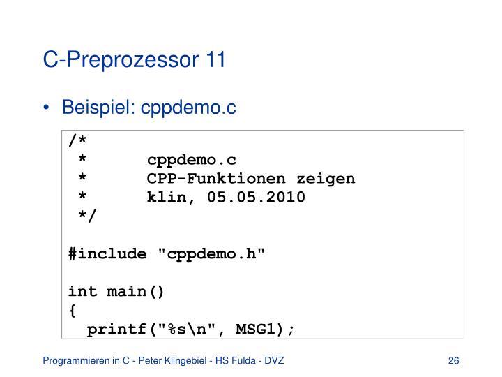 C-Preprozessor 11