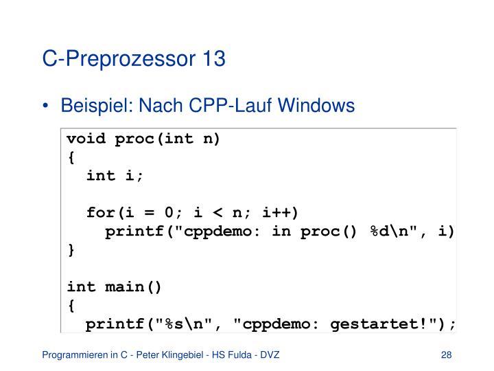 C-Preprozessor 13