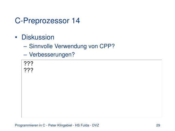 C-Preprozessor 14