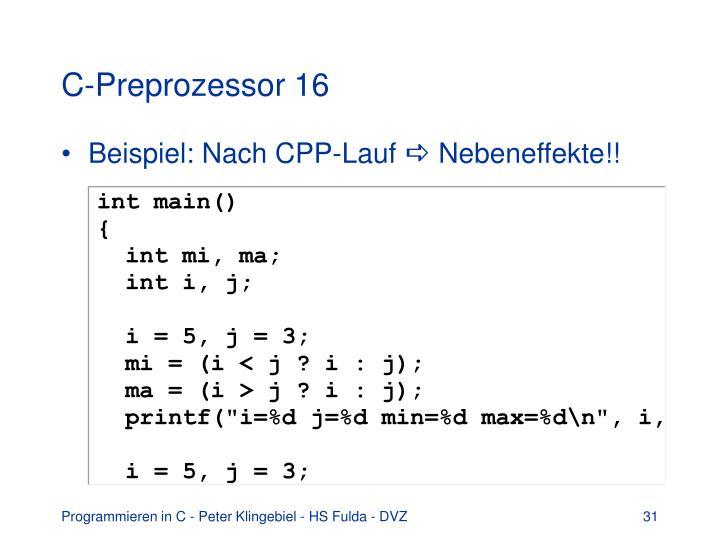 C-Preprozessor 16
