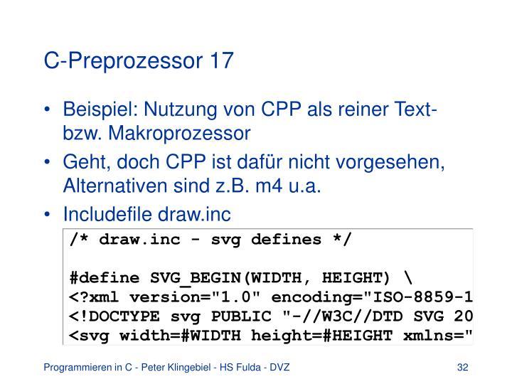 C-Preprozessor 17
