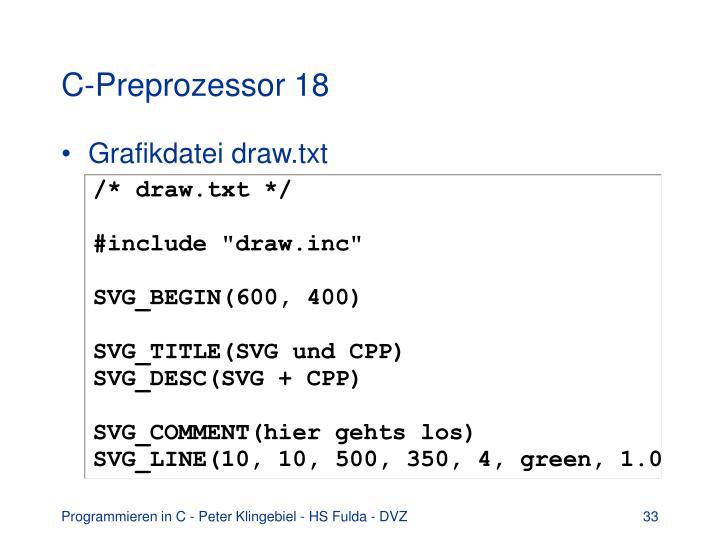 C-Preprozessor 18