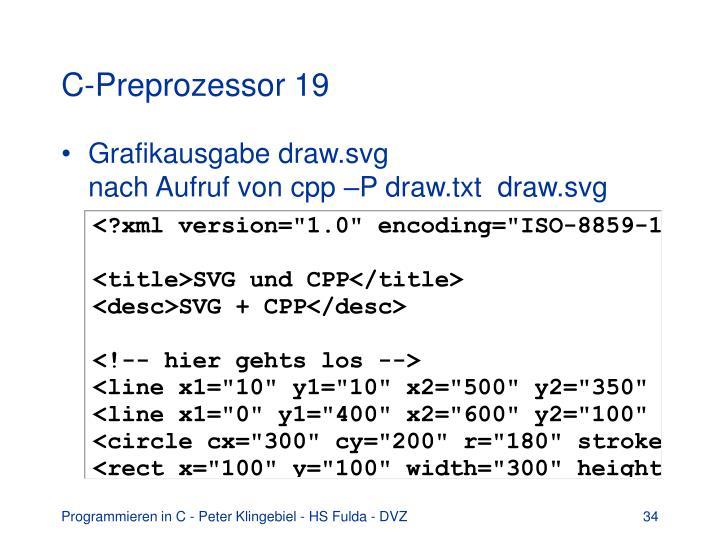 C-Preprozessor 19