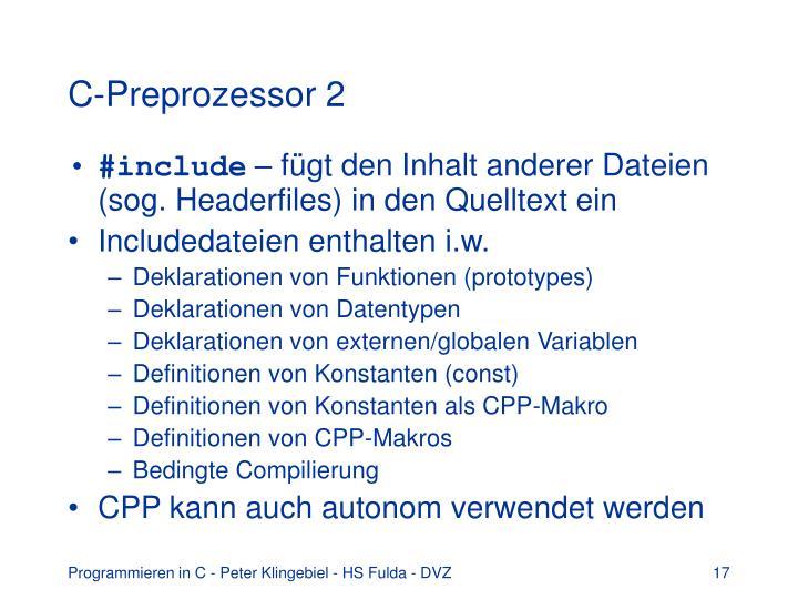 C-Preprozessor 2