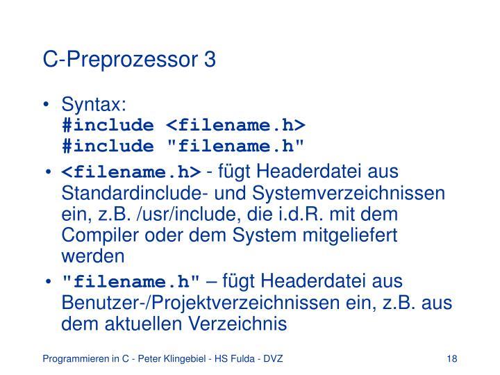 C-Preprozessor 3