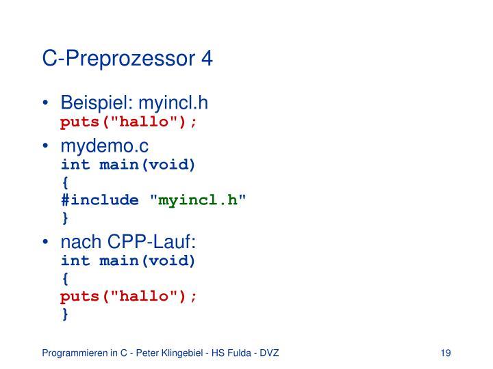 C-Preprozessor 4
