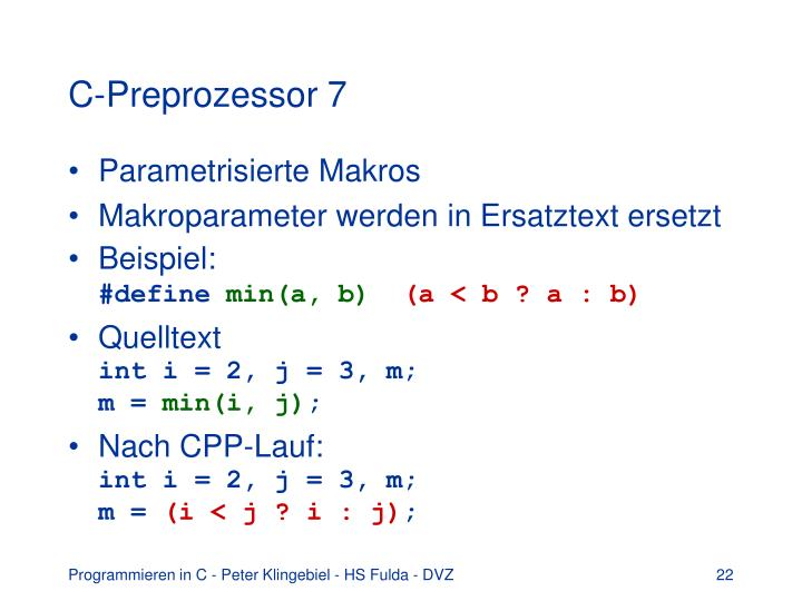 C-Preprozessor 7