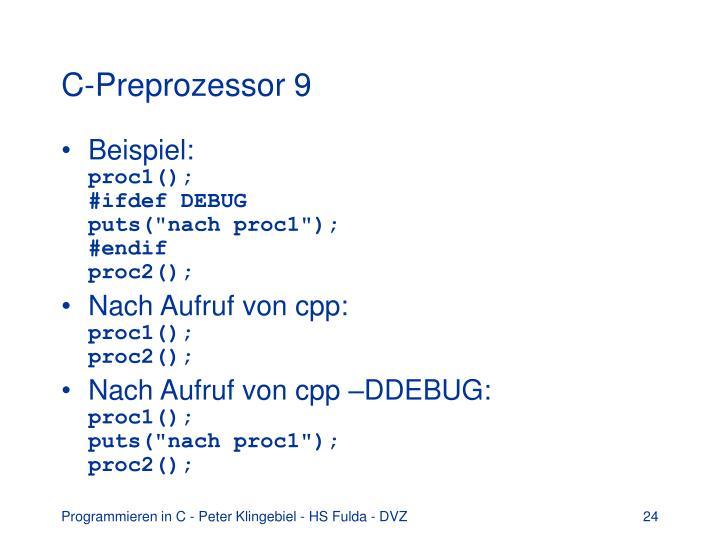C-Preprozessor 9
