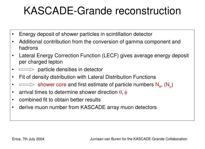 KASCADE-Grande reconstruction