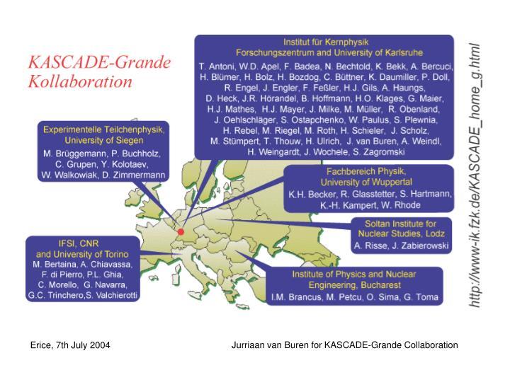 Jurriaan van Buren for KASCADE-Grande Collaboration