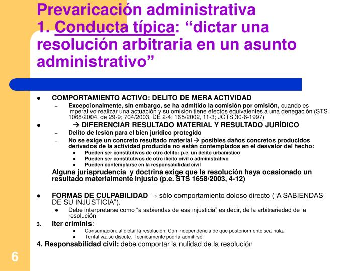 Prevaricación administrativa